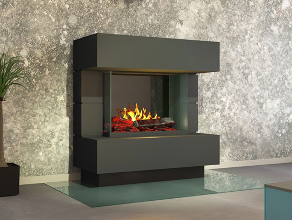 cheminee electrique noire